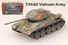 Nam battlefield T34 85 medium Tank Veitnam army 1/72 Diecast plastic Easy Model