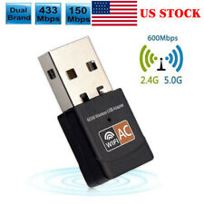 Dual Band 600Mbps 2.4GHz 5GHz WiFi Adapter USB Wireless 802.11ac/a/b/g/n Net ~fg