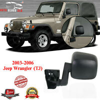 TJ Manual Manual Folding Textured Black Passenger and Driver Side Mirror Compatible with 2003-2006 Jeep Wrangler