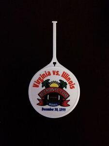 KT) 1999 MicronPc Bowl UNIVERSITY OF VIRGINIA UVA Cavaliers Unused Luggage Tag