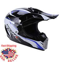DOT SPK Blue Adult Motorcycle Motocross Off-Road ATV Dirt Bike Snowmobile Helmet