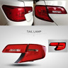 Red Clear LED Tail Lights For Toyota Camry ASV50 AVV50 Sedan 2012 2013 2014 Pair
