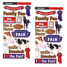 Creative Imaginations County Fair Livestock Rodeo Scrapbooking Stickers (2 Pack)