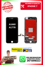 LCD TOUCH SCREEN VETRO DISPLAY SCHERMO PER  IPHONE 7G 7 NERO A1660 A1778 A1779