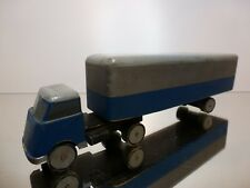 "WOODEN DAF A50 ""KIKKER""TRUCK + TRAILER - BLUE L23.0cm RARE - GOOD CONDITION"