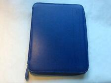 Filofax A4 pennybrigde zipped folder cobalt blue