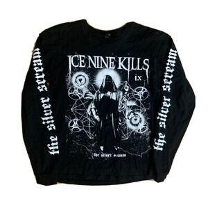 Ice Nine Kills The Silver Scream CD Promo T Shirt Size small 2018 L/S Horror