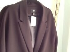 NWT H&M Women's Jacket Black Blazer Size 10 Snap Front