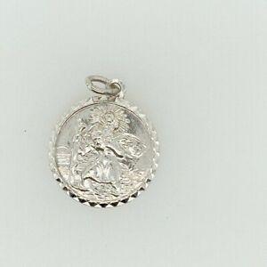 Vintage Sterling Silver St Christopher Pendant by Georg Jensen