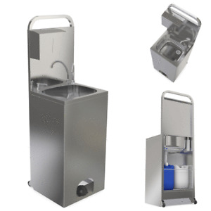 Portable hand wash self contained unit complete with soap and towel dispenser