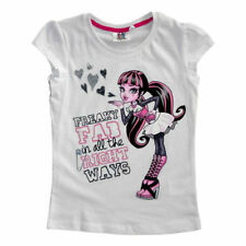 MONSTER HIGH t-shirt 8 10 ou 12 ans blanc manches courtes NEUF