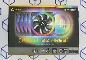Antec Prizm 120 ARGB/RGB 5+C 120mm Case Fan With Controller 5 in1 Pack