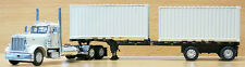1/64 DCP WHITE 379 PETERBILT W/ WHITE CONTAINERS AND TRAILER SET