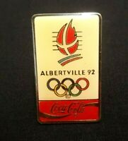 ALBERTVILLE FRANCE 1992 OLYMPICS COCA COLA COKE COLLECTIBLE HAT LAPEL PIN WINTER