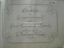 SCRITTURA_CALLIGRAFIA_RISORGIMENTO_UNITA' D'ITALIA_GARIBALDI_FRATELLANZA UMANA