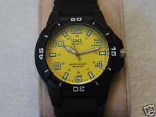 Nice Classic New Q&Q by Citizen Men's Sports Watch w/Yellow Dial