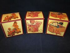 Fannie May Candies Teddy Bear Boxes Lucie Sable Imports ~ Set of 3