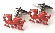 Wales Welsh Dragon Crested Cufflinks (N177) Gift Boxed