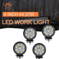 Led Work Light Bar 27w 4'' Fog Lamps For Tractor Dodge Ram 1500/2500/3500Flood