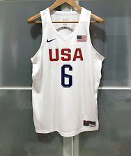 New 2016 Nike Usa Basketball Lebron James Game Jersey Olympic Fiba Nba Lakers Xl