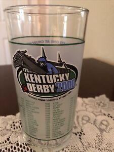 126th Kentucky Derby (2000) Mint Julep Glass Churchill Downs - 12 oz