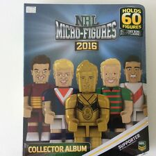 NRL 2016 micro figures collectors album includes bonus footy ladder