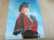Emily Blunt Mary Poppins Returns 8x10 H Photo  Signed
