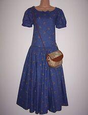 Laura Ashley vintage spring 94 China blue summer dress 12 UK & LA vintage bag