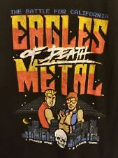 Eagles Of Death Metal T-shirt Large Black 2 Player Gamer Style 8 bit Unisex