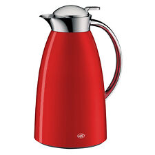 Alfi Gusto Glass Vacuum Insulated Metal Carafe Beverage Pitcher 1L Red