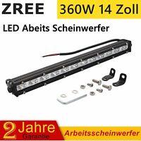 14-Zoll 360W LED Kurve Lichtleiste Arbeitsscheinwerfer Light Bar Offroad 12V 24V