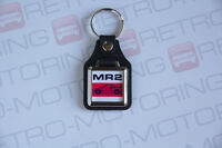 Toyota MR2 Mk1 Keyring - Leatherette & Chrome Classic Japanese Retro Car Keyfob
