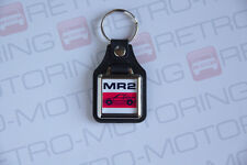 Toyota MR2 AW11 Mk1 Keyring - Leatherette Classic Japanese Retro Car Keyfob