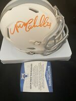 Browns Nick Chubb Authentic Signed White Ice Mini Helmet BAS Witnessed