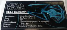 Star Wars Sticker for Lego® MOC-24028 75095 Tie Interceptor precut