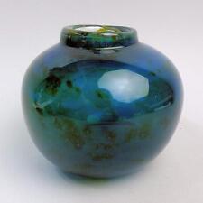 EARLY MDINA MICHAEL HARRIS SIGNED ART GLASS VASE 1967