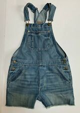 American Eagle Jean Shortalls Overall Shorts Distressed Denim Size XS