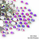 Hot Sale! 1440pcs Crystal AB Non Hotfix FlatBack Rhinestones Nail Art Decoration