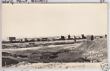 Rppc - Wolf Point, Mont. - Birdseye Town View - early 1900s