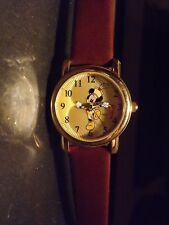 Womens Disney Vintage Mickey Mouse Watch (Band Leader)-(50 Years)Disneyland-New