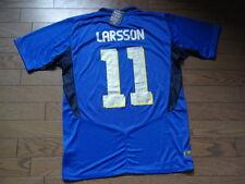 Sweden #11 Larsson 100% Original Soccer Jersey Shirt L 2005/06 Away SS BNWT Rare