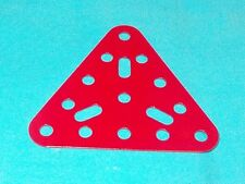 meccano plaque triangulaire, No76 rouge