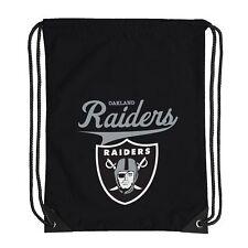 "Football Licensed Oakland Raiders Backsack Team Spirit 17.5"" x 13"" Gym bag"