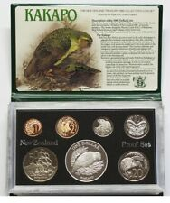 New Zealand - 1986 - Silver Proof Coin Set --  Kakapo