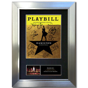 HAMILTON American Musical Signed Autograph Mounted Reproduction Print A4 851