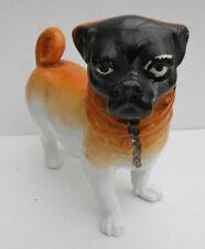 German Porcelain Figure Of A Pug Dog Possibly Schmidt & Co 1