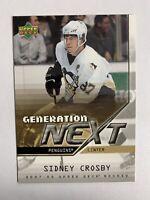 2007-08 Upper Deck Series 1 Generation Next #GN13 Sidney Crosby Penguins Insert
