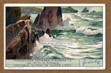 The Sea Coast Reefs Of Brittany Bretagne France 1930s Trade Ad Card