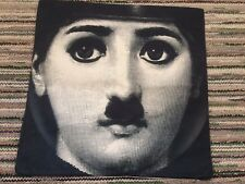 Charlie Chaplin Fornasetti Style Linen Square Pillow Cushion Cover.