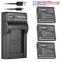 Kastar Battery Slim USB Charger for Panasonic Lumix DMC-FS5EG-S DMC-FS5GK BCE10E